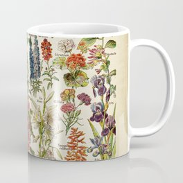 Multicolored Flowers Vintage Style with text in French Coffee Mug