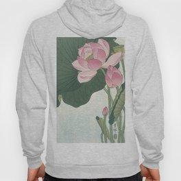 Flowering lotus flowers, Ohara Koson Hoody