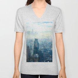 New York City, Fog Unisex V-Neck