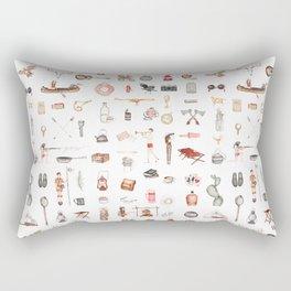 Camp! (white) Rectangular Pillow