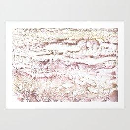 Brown pink marble Art Print