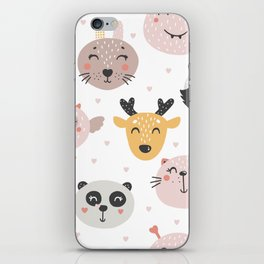 Woodland Critters Pattern iPhone Skin