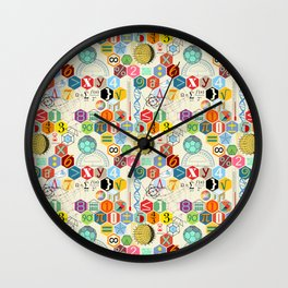 Math in color (little) Wall Clock
