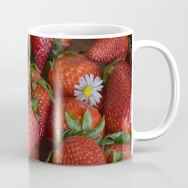 Macro strawberry and camomile with natural light Coffee Mug