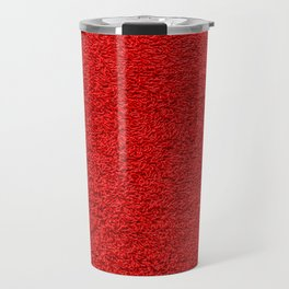 Rose Red Shag pile carpet pattern Travel Mug