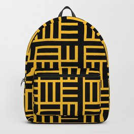 The Black lines pattern Backpack