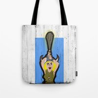dungeons and dragons Tote Bags featuring DUNGEONS & DRAGONS - BOBBY by Zorio
