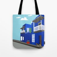 colombia Tote Bags featuring Colombia  by Design4u Studio