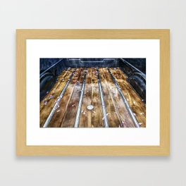 Truck Bed Framed Art Print