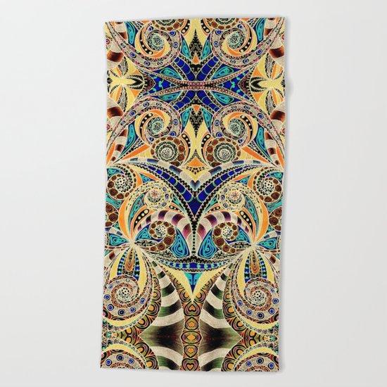 Drawing Floral Zentangle G240 Beach Towel
