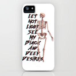 Deep Desires iPhone Case
