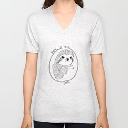 Hang in There, Man Unisex V-Neck