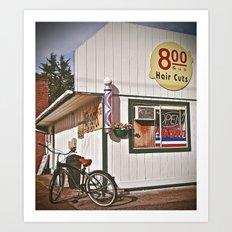 Corner Barbershop Art Print