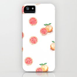 Grapefruit Pattern iPhone Case