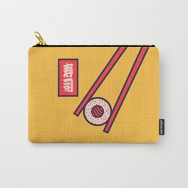 Sushi Minimal Japanese Food Chopsticks - Yellow Carry-All Pouch