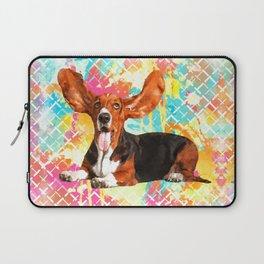 Basset Hound Dog Flying Ears Laptop Sleeve