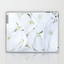 White hortensia flowers Laptop & iPad Skin