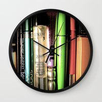 makeup Wall Clocks featuring Makeup Madness by ellevaz