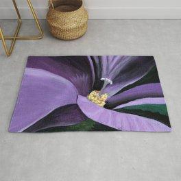 Purple Flower at Midnight Rug