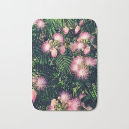 Mimosa Tree Floral Pattern | Photography | Tropical | Pink aesthetic Bath Mat