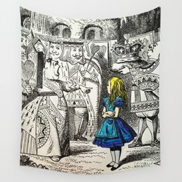 Blonde Girl Called Alice Wall Tapestry