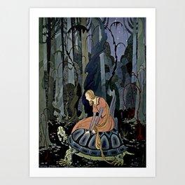 """""""The Black Tortoise"""" by Virginia Frances Sterrett Art Print"""