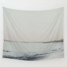 Foggy Beach Wall Tapestry