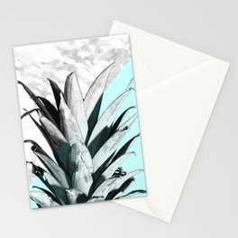 Pineapple Top Marble Pastel Blue Stationery Cards