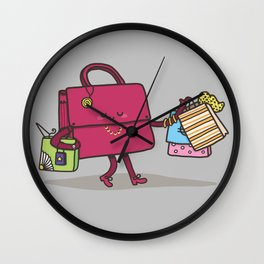 Shopping Addiction Wall Clock