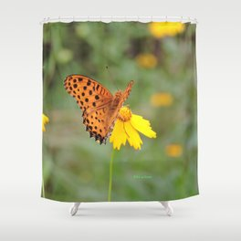 Ms. Indian Fritillary at West Lake Shower Curtain