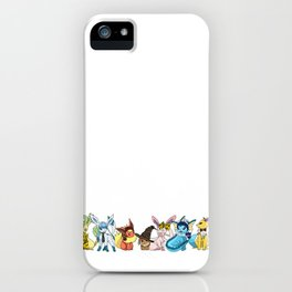 Eeveelutions Go To Hogwarts iPhone Case