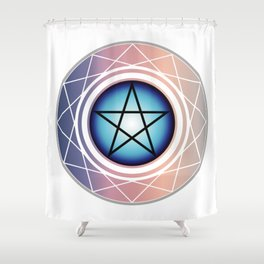 The Pentagram Shower Curtain