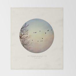 Caged Birds Throw Blanket
