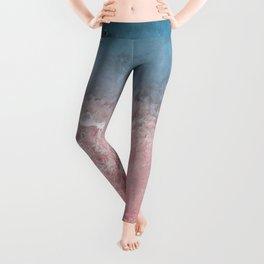 Bahamas pink blue Leggings