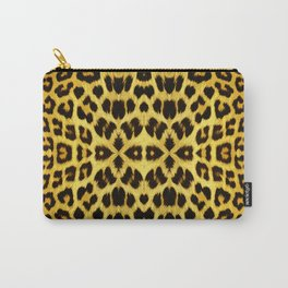 Leopard Print - Gold Carry-All Pouch