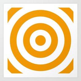 Target (Orange & White Pattern) Art Print