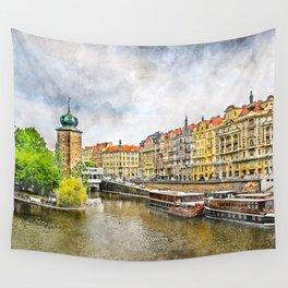 Praha city art #praha #prague Wall Tapestry