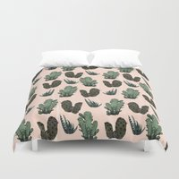 cactus Duvet Covers featuring Cactus by Samantha Dolan