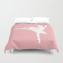 Pink and white Ballerina Duvet Cover