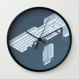 Isometric Council Chambers Wall Clock
