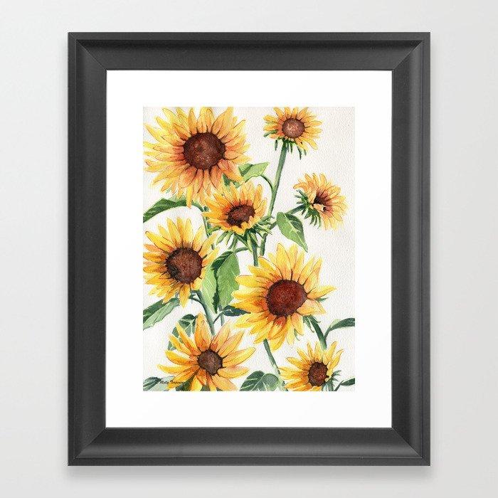 Sunflowers Gerahmter Kunstdruck