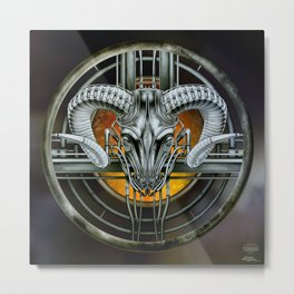 """Astrological Mechanism - Aries"" Metal Print"
