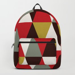 Midcentury harlequin pattern Backpack