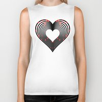 valentines Biker Tanks featuring Valentines - Light My Fire by Khana's Web