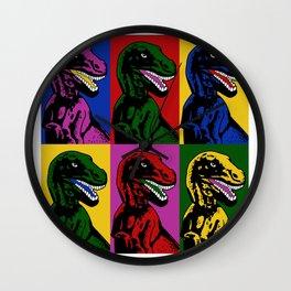 Dinosaur Pop Art Wall Clock