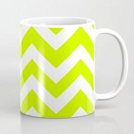 Electric lime - green color - Zigzag Chevron Pattern Coffee Mug