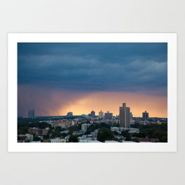 Sunset Rain Storm Art Print