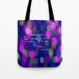Waiting to be Known Tote Bag
