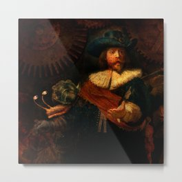 Steampunk Rembrandt - The Night Watch Metal Print