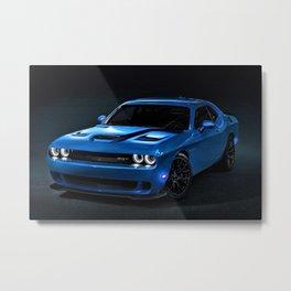 B5 Blue Hellcat Challenger SRT Metal Print